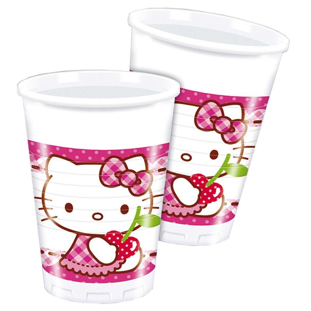 Vasos hello kitty - Decorar vasos plasticos para cumpleanos ...