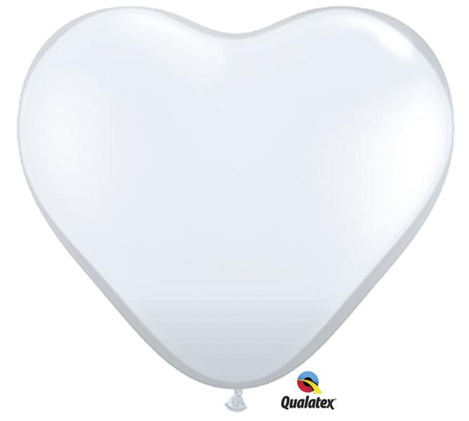 Globo con forma de corazón en color blanco