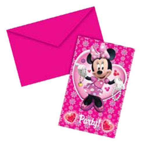 Invitaciones de Minnie Mouse - MundoGlobo