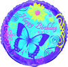 Globo de happy birhday mariposa